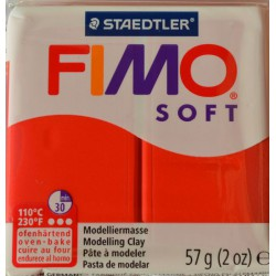 Fimo soft 24 rouge indien