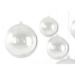 Boules en acryl séparable en deux parties 8 cm