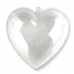 Coeur en acryl séparable en deux parties 8 cm