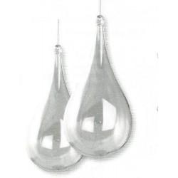 Goutte en acryl séparable en deux parties 14 cm