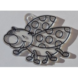 Coccinelle en acryl 8 cm