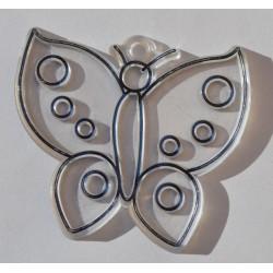 Papillon en acryl 6 cm
