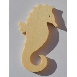 Petit hippocampe en bois 6 cm