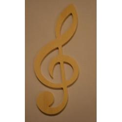 Petite clé de sol en bois 12 cm
