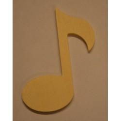 Petite note de musique en bois 5 cm