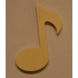 Grande note de musique en bois 8 cm