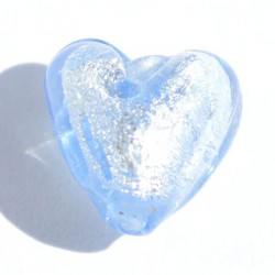 Petit coeur bleu 10x10 mm