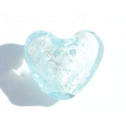 Petit coeur turquoise 10x10 mm
