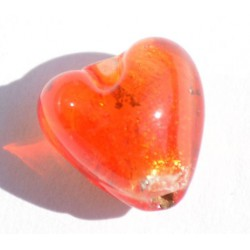 Petit coeur orange 10x10 mm