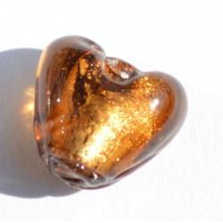 Petit coeur brun 10x10 mm