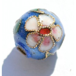 Ronde à inclusions 8 mm bleue