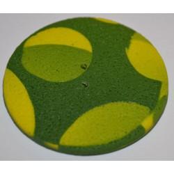 Perle Fimo ronde 45 mm verte