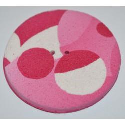 Perle Fimo ronde 45 mm rose