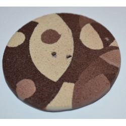 Perle Fimo ronde 45 mm brune