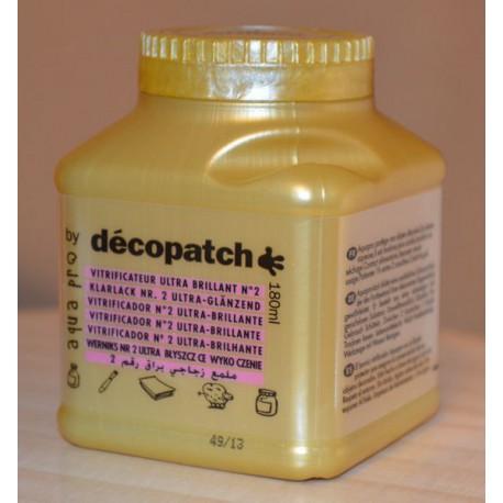 Vernis vitrificateur Aquapro ultra brillant 180 ml