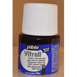 Pébéo vitrail 10 bleu profond 45 ml