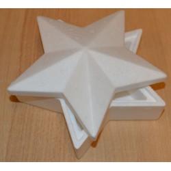 Boîte en sagex en forme d'étoile 18 cm