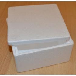 Boîte en sagex carrée 13 x 13 x 7 cm