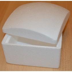 Boîte en sagex carrée, couvercle bombé 13 x 13 x 10 cm