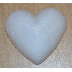 Coeur en sagex plat 5 cm