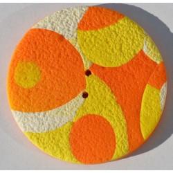Perle Fimo ronde 45 mm orange