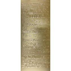 Autocollants joyeux anniversaire argent 10 x 24 cm