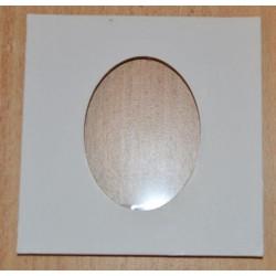 Cadre photo découpe ovale