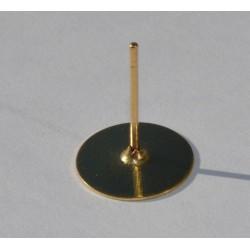 Clou d'oreille doré avec plateau 10mm