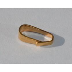 Crochet de pendentif simple doré