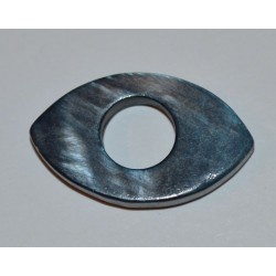 Navette évidée bleu gris 25x15mm