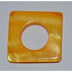 Carré évidé jaune 20x20mm