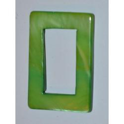 Rectangle évidé vert 20x30mm