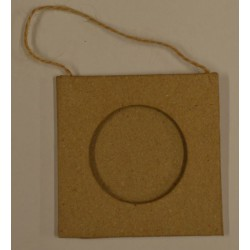 Petit cadre photo en papier mâché découpe ronde