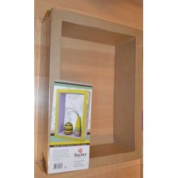 Rectangle évidé en papier mâché 38 x 27,5 x 11 cm