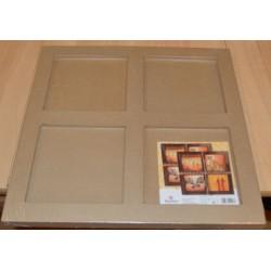 Tableau 4 cases en papier mâché 39 x 39 x 2 cm