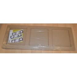 Tableau 3 cases en papier mâché 22 x 60 x 2 cm