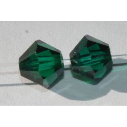 Toupie Swaro 4mm Emerald Satin