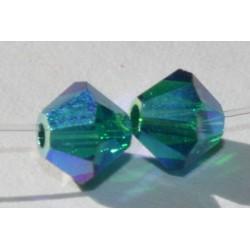 Toupie Swaro 4mm Emerald AB2x