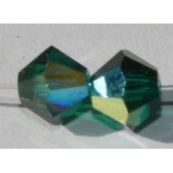 Toupie Swaro 4mm Emerald AB