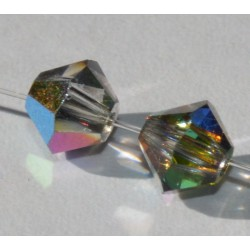 Toupie Swaro 4mm Crystal vitrail medium