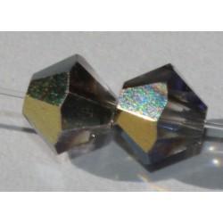 Toupie Swaro 4mm Crystal Heliotrope