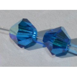 Toupie Swaro 4mm Capri blue AB
