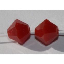 Toupie Swaro 4mm Dark red Coral
