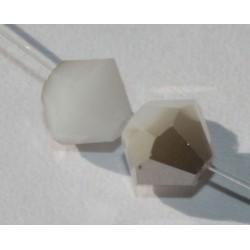 Toupie Swaro 4mm White Alabaster Satin