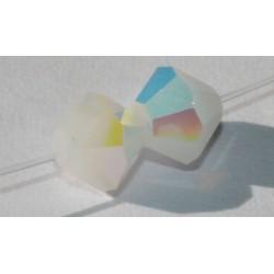 Toupie Swaro 4mm White Alabaster AB