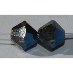 Toupie Swaro 3mm Crystal metallic blue