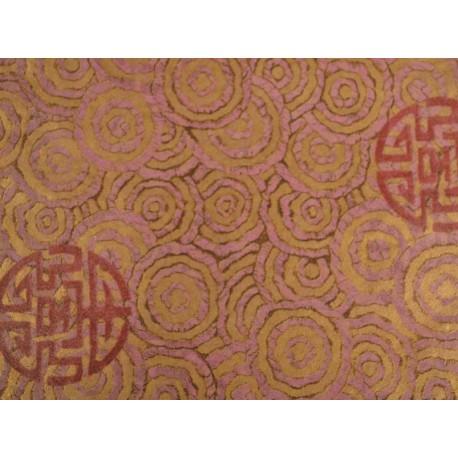 Feuille Décopatch 30x38.5cm rose or 356