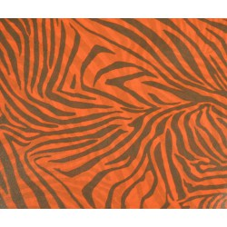 Feuille Décopatch 30x38.5cm zèbre oranges