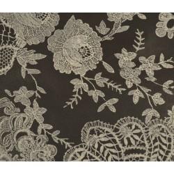 Feuille Décopatch 30x38.5cm dentelle noir et blanc 433