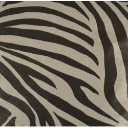 Feuille Décopatch 30x38.5cm zèbre argenté 447